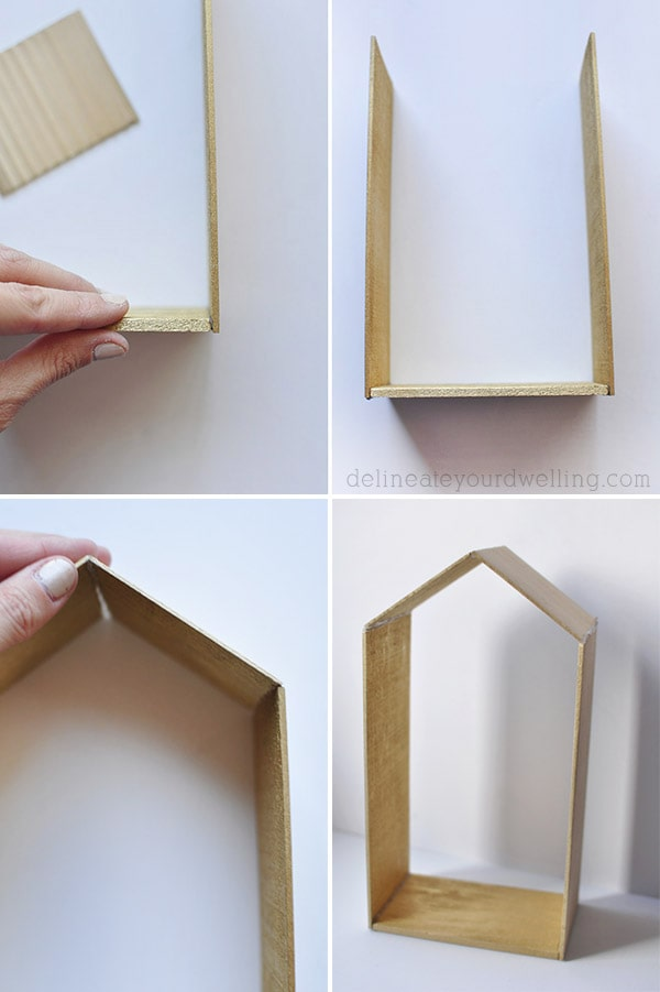Balsa Wood House glue