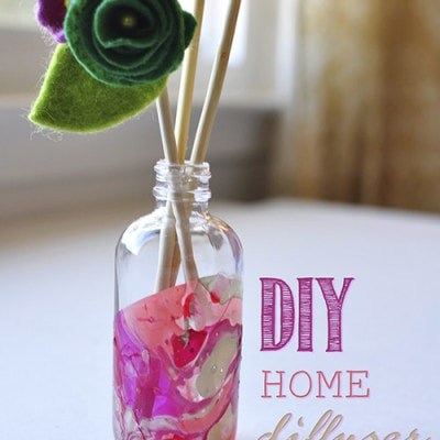 DIY Marbled Room Diffuser