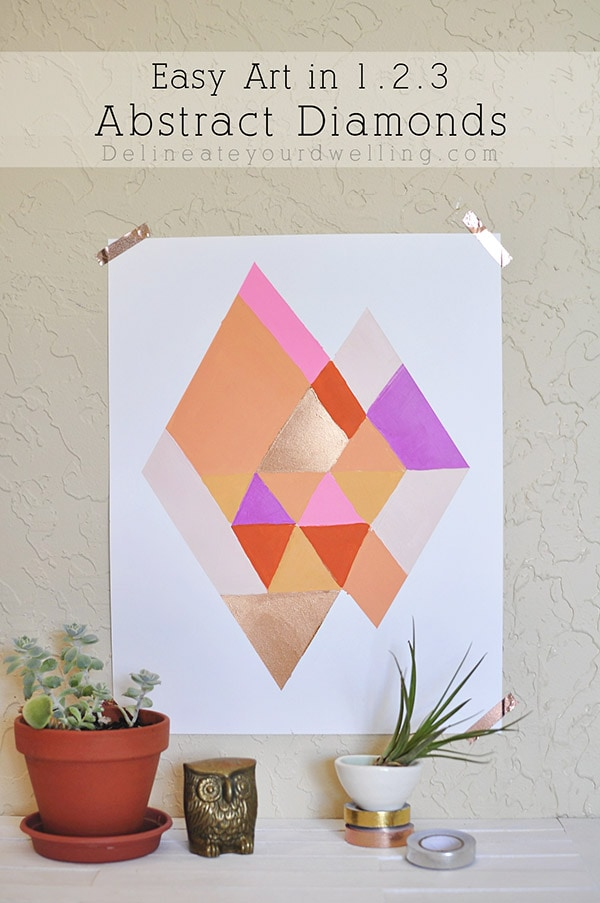 Easy to paint colorful Abstract Diamond art work, Delineate Your Dwelling