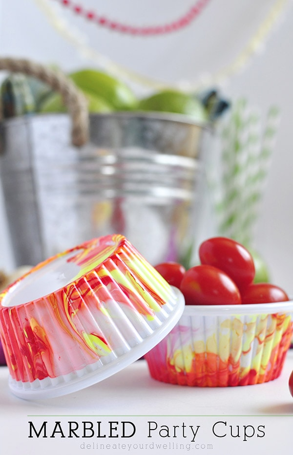 Marbled Party Cups, Delineateyourdwelling.com