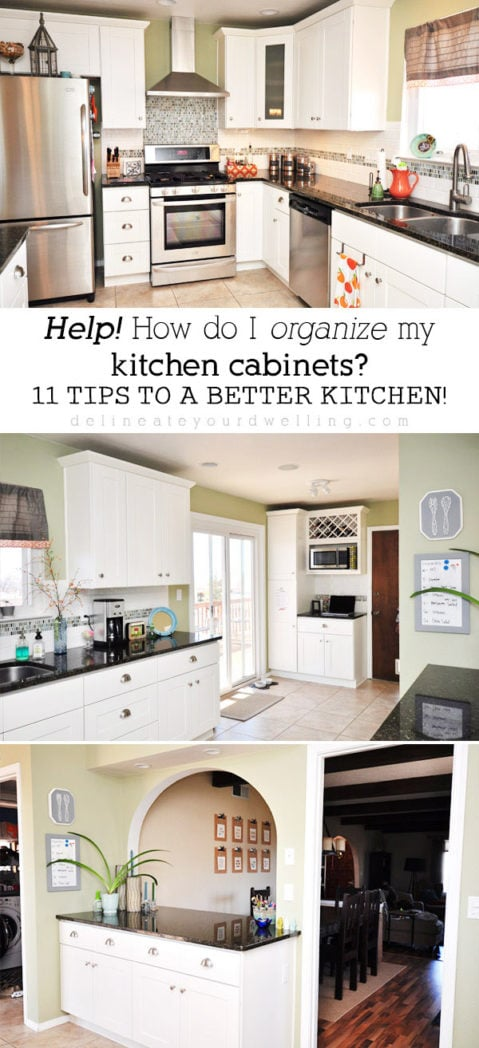Tips For Organizing Your Kitchen Cabinets In The Most Ideal - Where to put things in kitchen cabinets