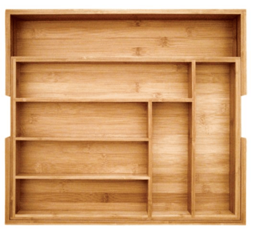Bamboo Drawer Organizer, Organizing Your Kitchen Cabinets