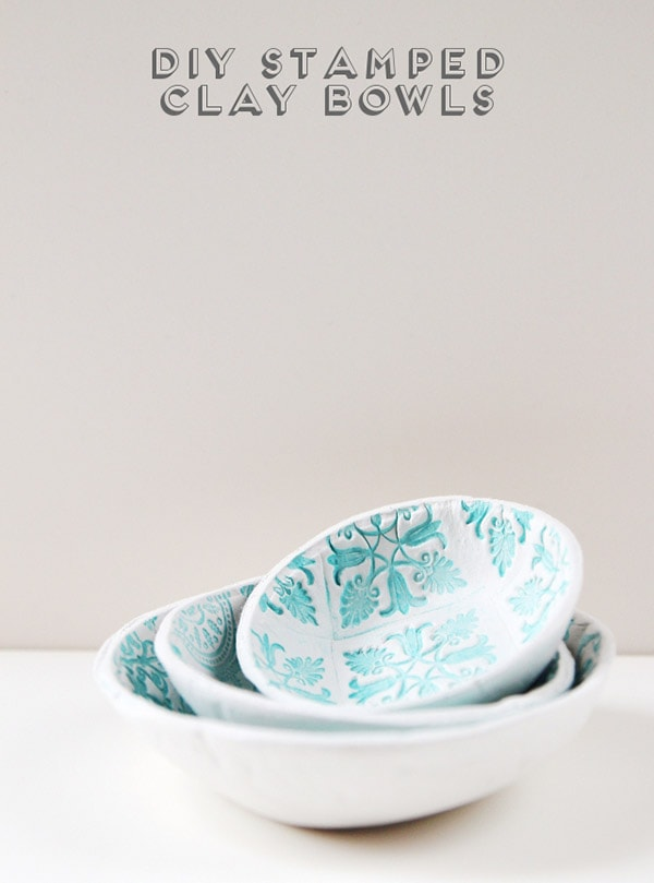 diy-stamped-clay-bowls