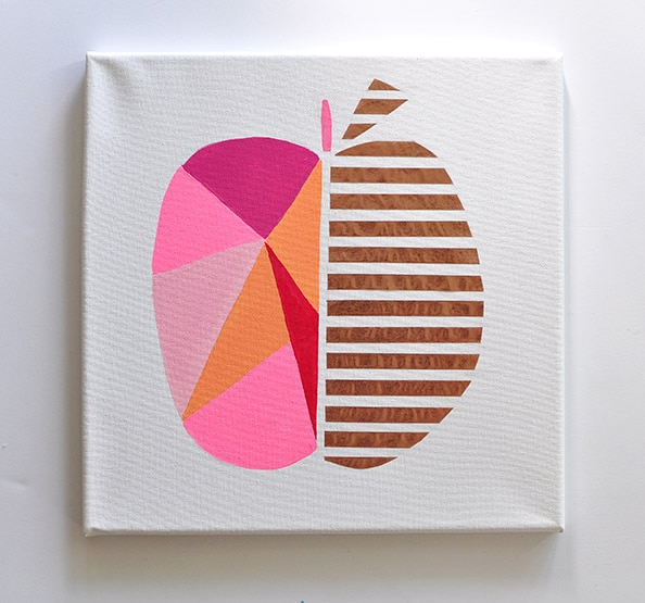 Easy Art in 1.2.3 : Modern Geometric Peach