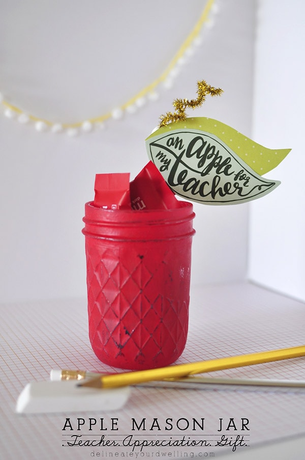 Red Apple Mason Jar