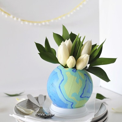DIY Flower Vase Globe