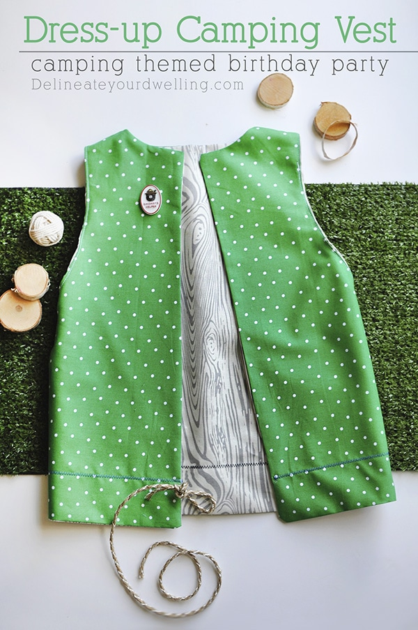 How to sew a simple Dress-up Camping Vest for kids. It's easier than you think to make and so fun to play make-believe with! Delineate Your Dwelling #campingvest #dressupcampingvest #sewcampingvest #dressupvest
