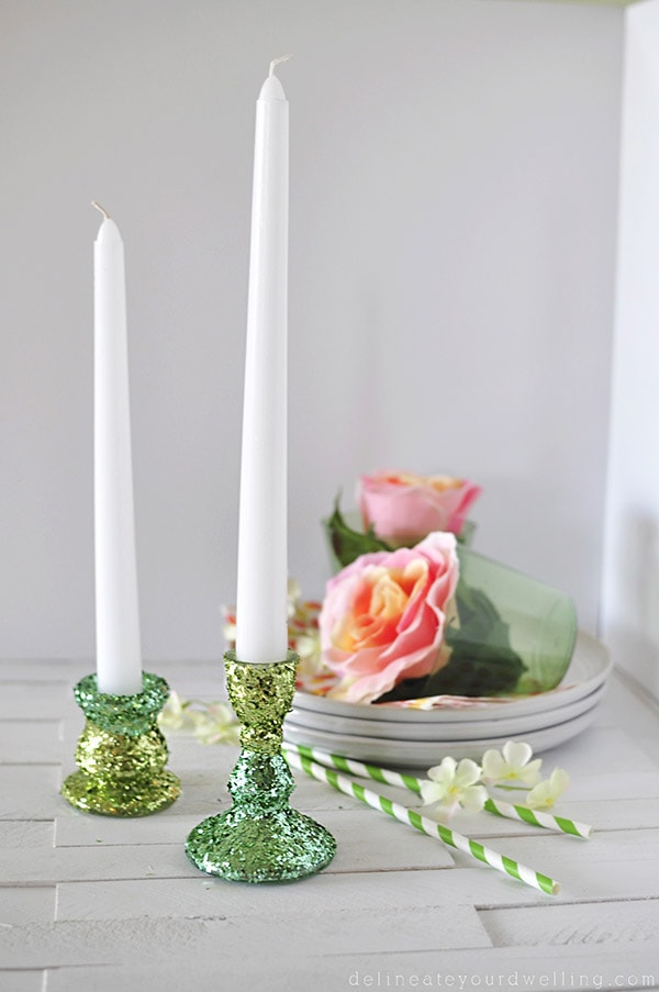 Glitter Candle Holder