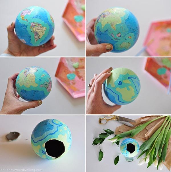 Globe Flower Vase steps