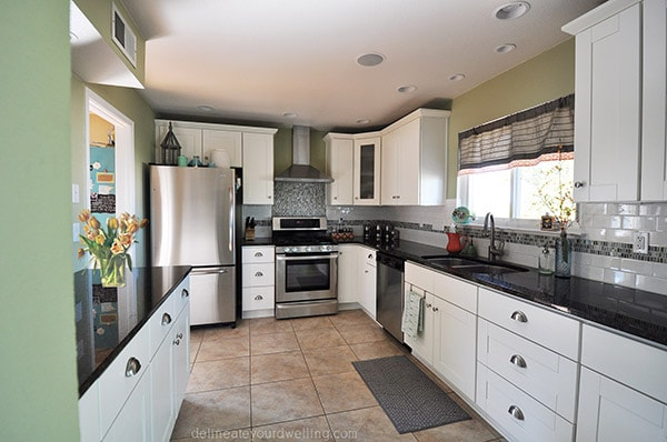 Staging Your House to Sell-Smell Clean, White Kitchen