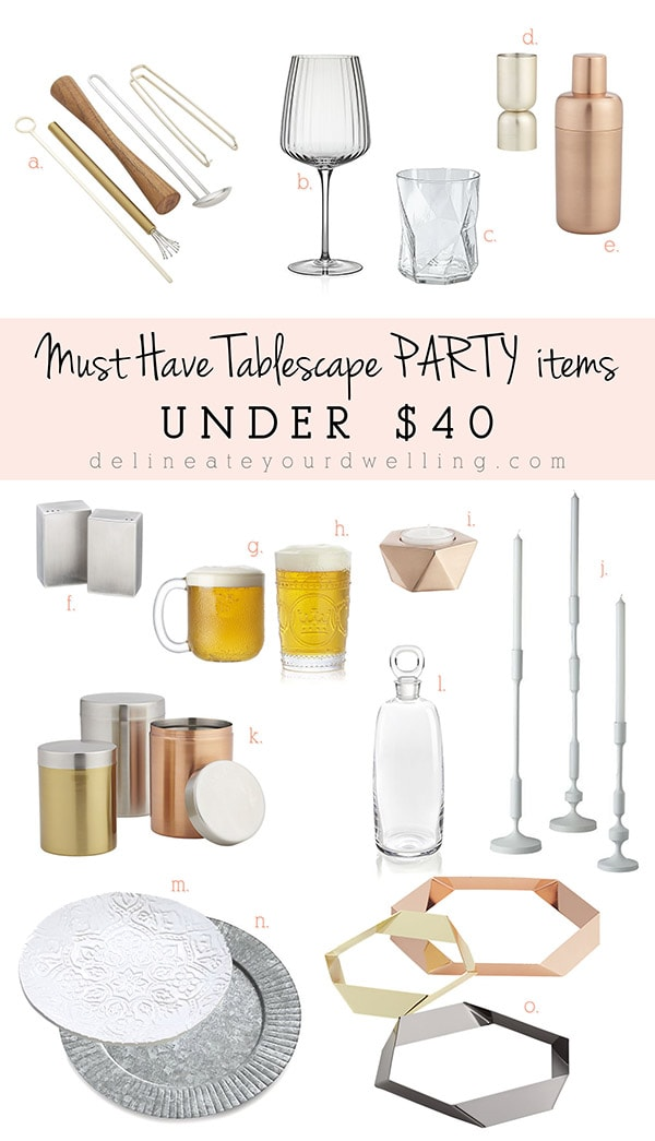Must Have Tablescape PARTY Items Under $40, Delineateyourdwelling.com