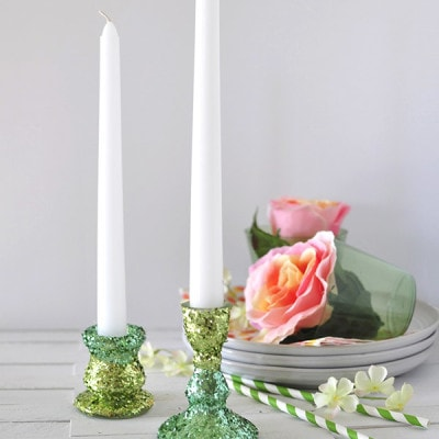 Two Toned Glitter Candle Holder, Delineateyourdwelling.com