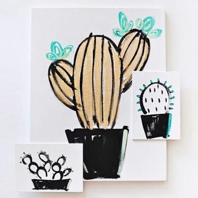 1Easy-Art,-Simple-Succulent
