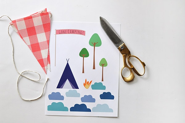 Camping themed Birthday Cake supplies