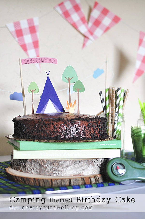 Camping Themed Birthday Cake Delineateyourdwelling