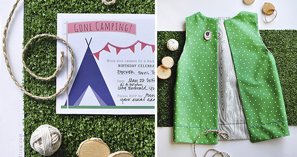Camping themed Birthday items