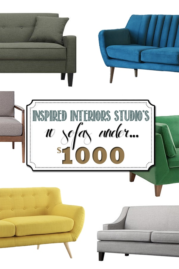 Check out the most comfortable and quality Sofa's Under $1000! Plus find out 6 Things to Look for When Buying a Modern Sofa! Delineateyourdwelling.com #affordablesofa #affordablecouch