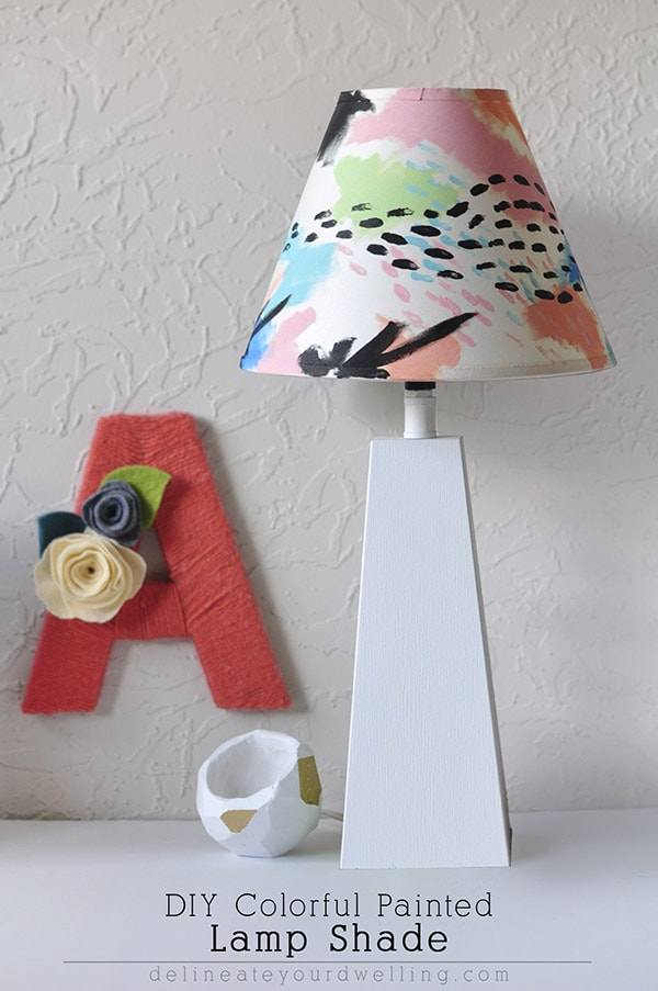 Diy Colorful Painted Lampshade