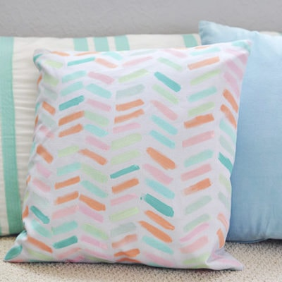 DIY Painted Pillow Cover