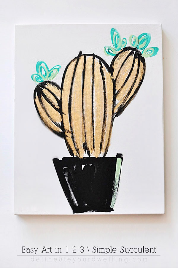 tips to draw and paint easy and simple succulent artwork