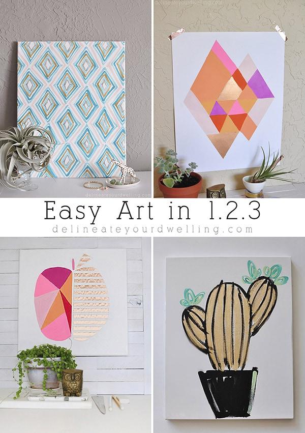 Easy Art in 123, Delineateyourdwelling.com