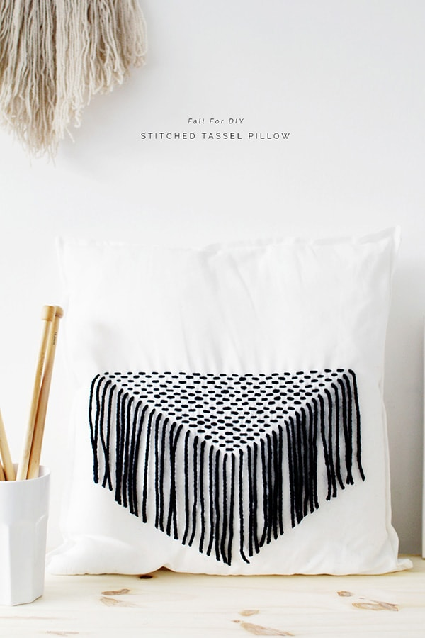 Fall-For-DIY-Stitched-Tassels-Cushion-tutorial, Feature Friday