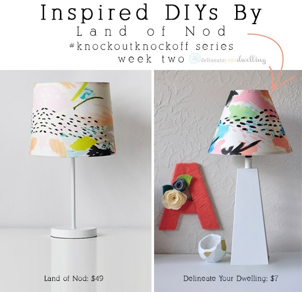Give an old lamp shade a completely new look with minimal cost at all. Learn how to make a painted DIY Lampshade for your home! Delineate Your Dwelling #DIYPaintLampshade #paintlampshade #lampshadepaint