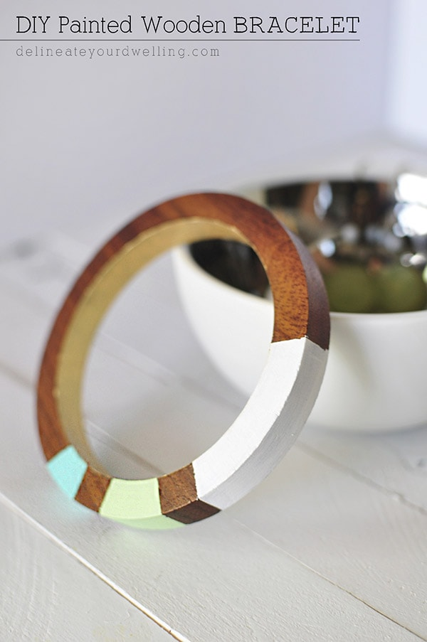 DIY Painted Wooden Bracelet