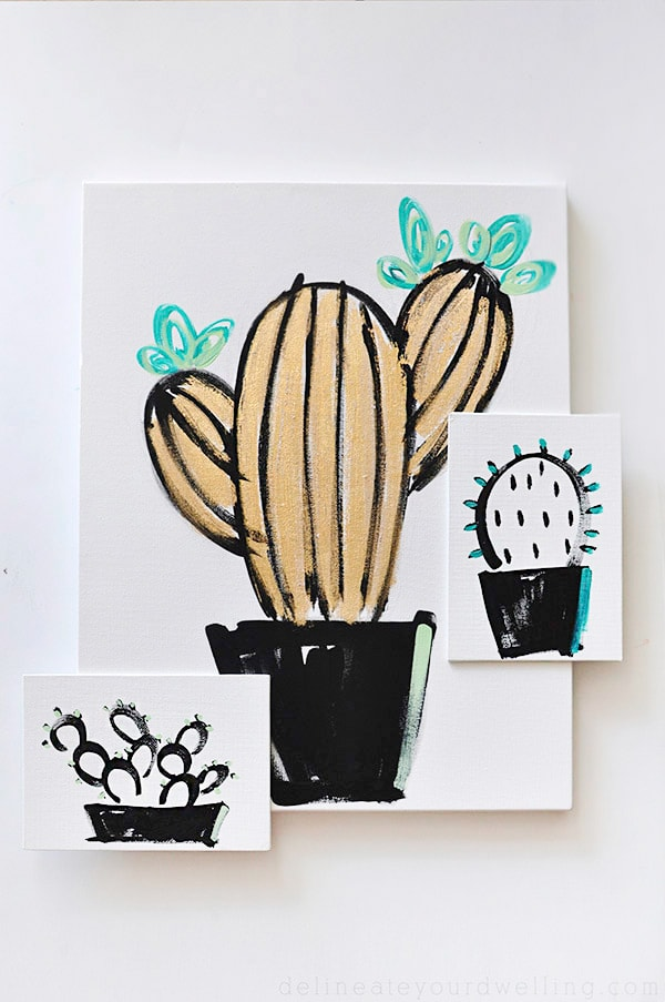See easy step by step instructions to create inexpensive wall art. Tips on how to draw or paint a simple Succulent or cactus in just a few simple steps! You can become your very own artist! Delineate Your Dwelling #drawasucculent #paintasucculent #drawacactus #paintacactus