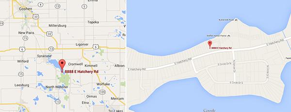 Wawasee House map