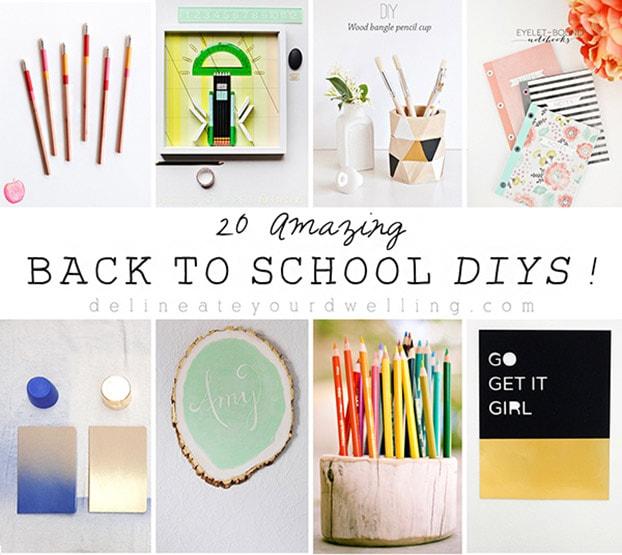 20 amazing back to school diys for School diy ideas