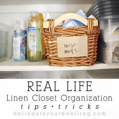 1 Linen Closet Organization