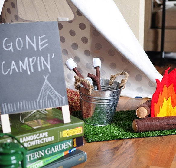 3Camping themed bday party