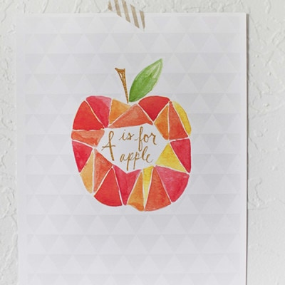 Apple-Watercolor-print
