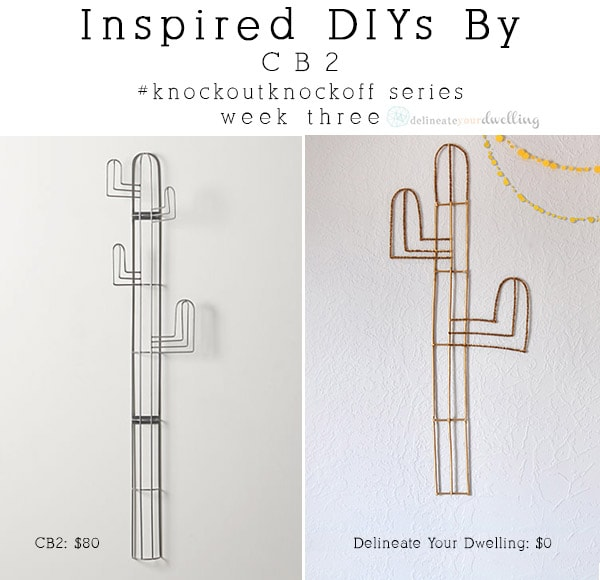 CB2 Easy Cacti Wall Decor, Delineateyourdwelling.com