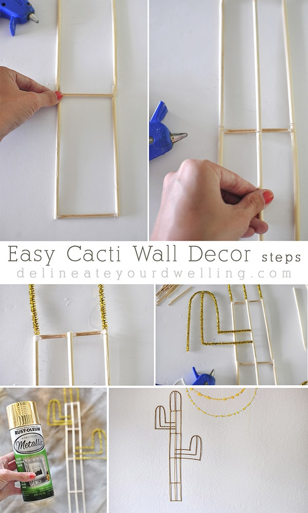 Easy Cacti Wall Decor steps