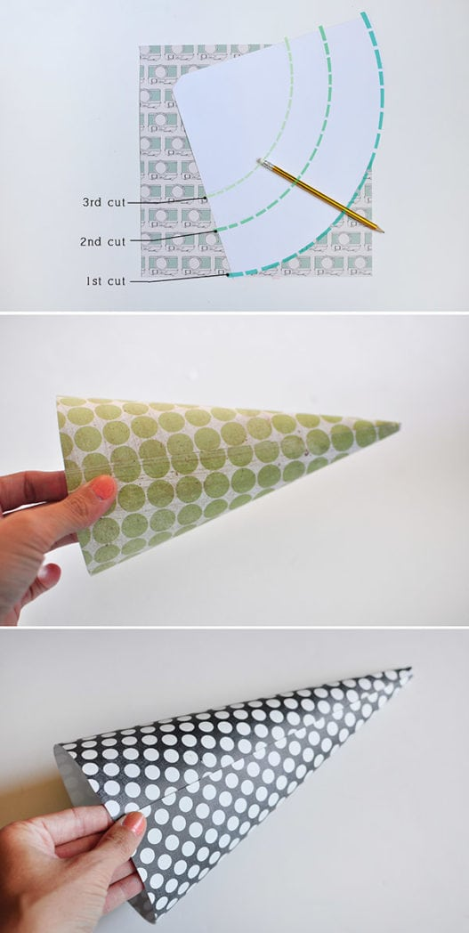 Easy DIY Cone Lantern steps