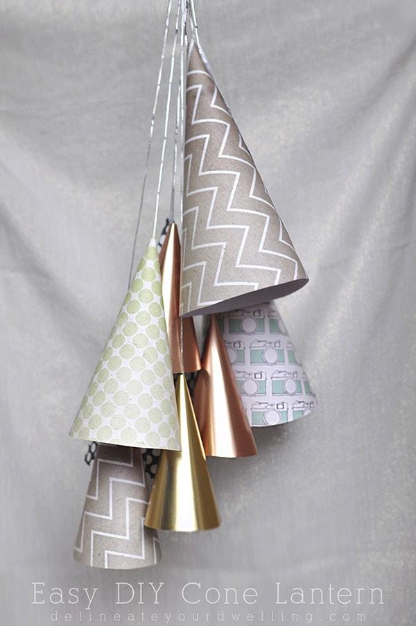 Easy DIY Cone Lantern, Delineateyourdwelling.com