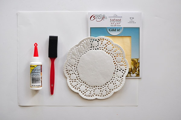 Gold Foil Doily Art supplies