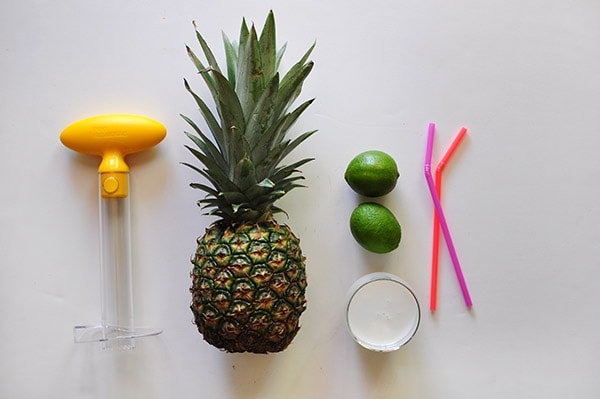 Whipped Pineapple Popsicle supplies