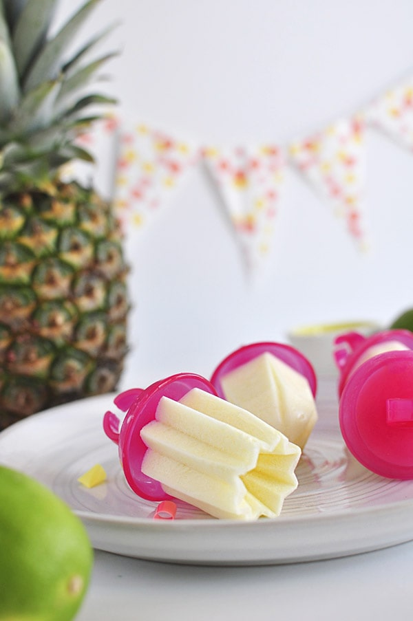 Whipped Pineapple Popsicle Ring Pop