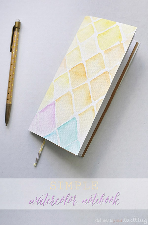 DIY watercolor-notebook