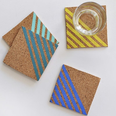 1 Colorful Striped Coasters