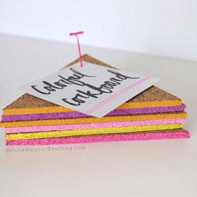 1 Easy Colorful Triangle Corkboard