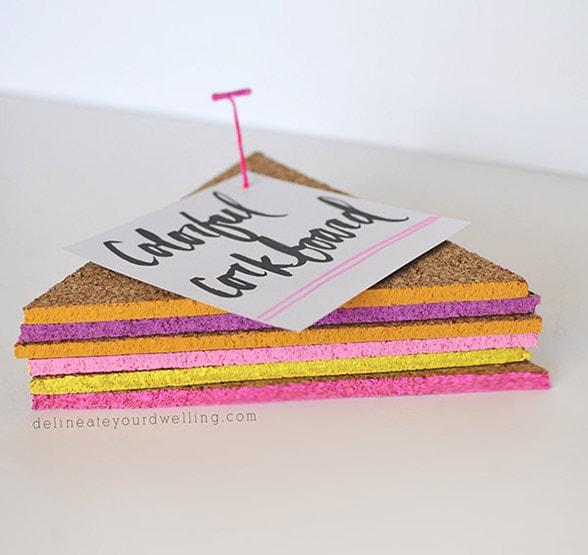 1 Easy Colorful Triangle Corkboard