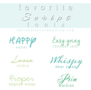 1 Top Favorite Script Fonts