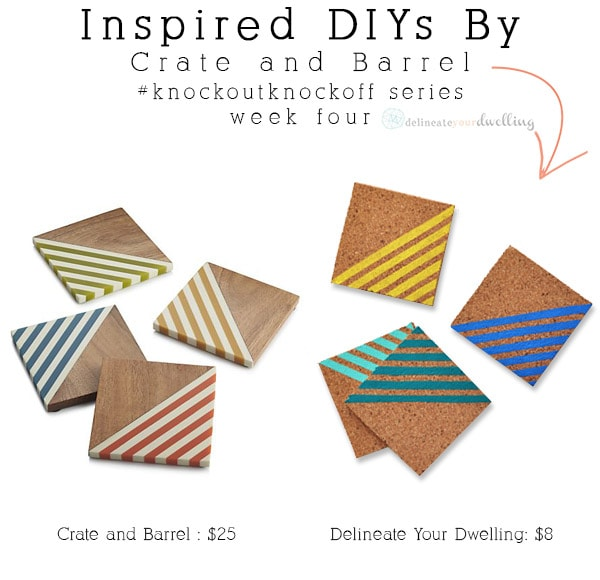 Colorful Striped Coasters compare