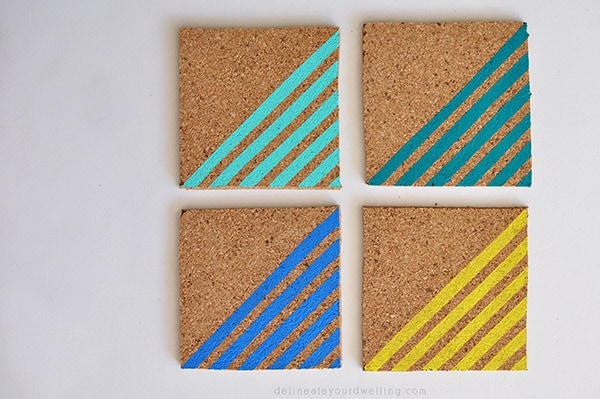 Colorful Striped Coasters done
