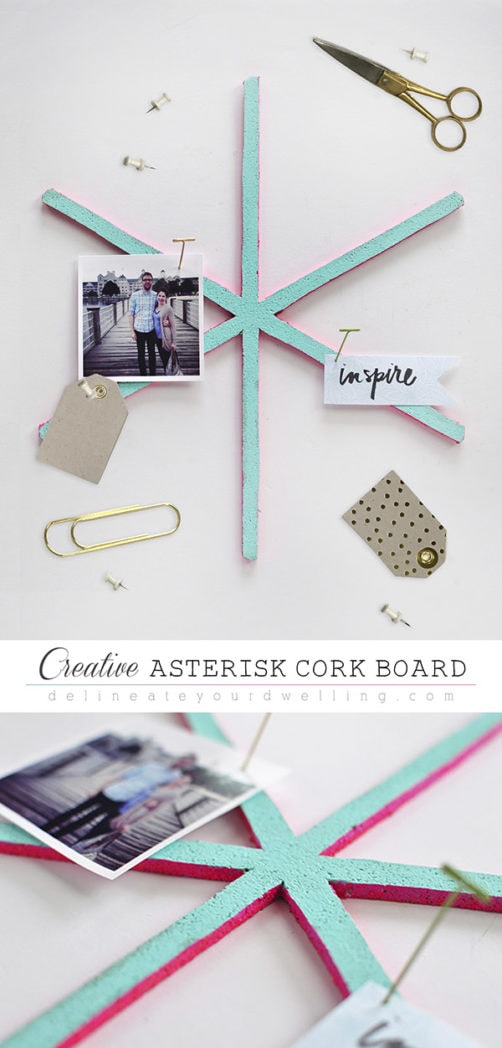 Colorful Asterisk Cork