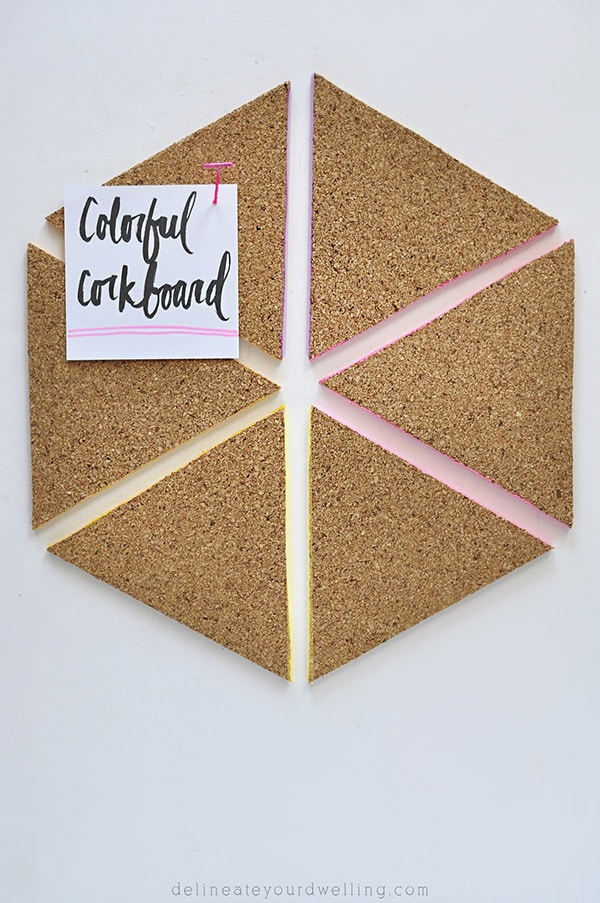 Easy Colorful Corkboard, Delineateyourdwelling.com